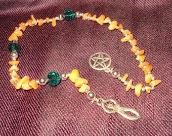 rosary prayer wicca in aventurine stone