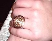 Copper Button Ring
