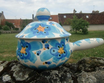 1960 Pot Ceramic Art Kercy Quimper.