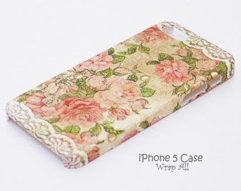 Vintage Roses and White Lace iPhone case Print iPhone SE case iPhone 6S case iPhone 6 case  iPhone 5S case iPhone 5 case iPhone 5C case