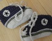 Crocheted Baby Converse Booties (Custom Order)