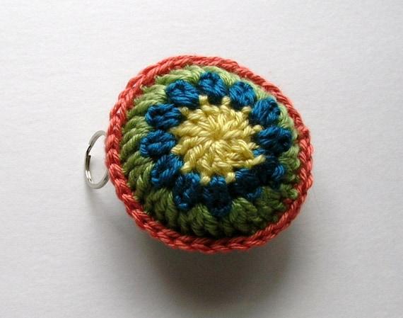 Crochet Keychain Keyring Multicolor