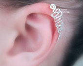 Upper Cartilage Ear Cuff SNAKE/ Cartilage jewelry  / piercing imitation/ silver plated/ Fake faux piercing/ Ear Jacket/ helix manschette