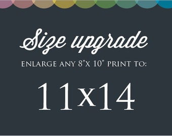 "Size Upgrade: Make ANY print 11 x 14"""