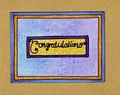 """Beautiful """"Congratulations"""" OOAK Greetings Card"""