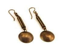 Brass Dome Earrings