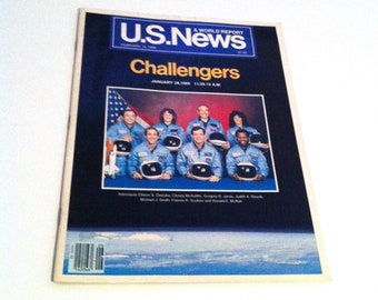 US News and World Report, Challengers, February 10, 1986, Vintage Magazine, Space Travel, 80's Magazine