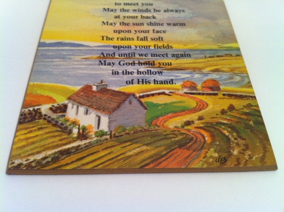 """Russ Berrie """"Irish Blessing"""" Wall Hanging Vintage Plaque"""