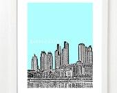 Buenos Aires Skyline Art Print - Argentina Travel Poster - VERSION 1