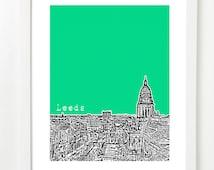 Leeds, England Poster - City Skyline Series Art Print - West Yorkshire -