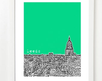 Leeds, England Poster - City Skyline Series Art Print - West Yorkshire -