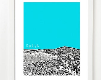 Split, Croatia Poster - City Skyline Series Art Print - Split Art - VERSION 1