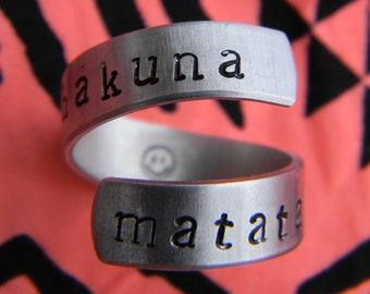 Hakuna Matata ring //The original one   twist aluminum ring