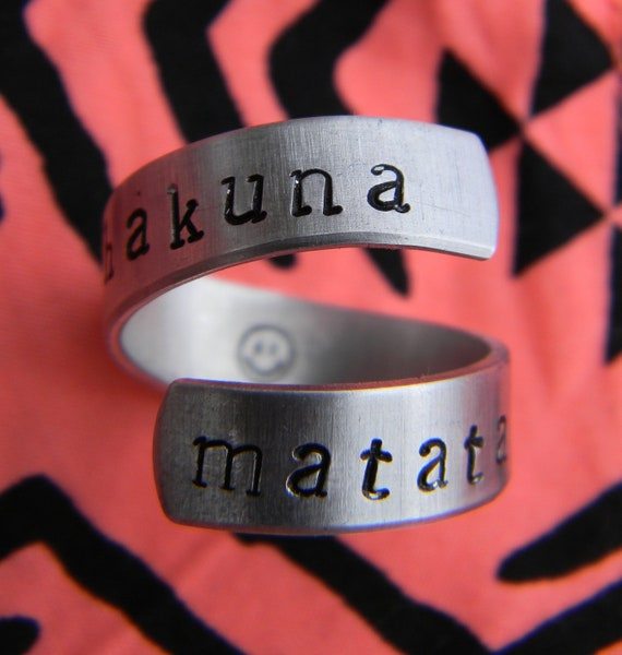 Hakuna Matata ring //The original one   twist aluminum ring