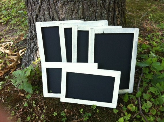 Chalkboard - Rustic Wedding Decorations - Set of Chalk Boards - Shabby - Chic - Cottage Decor