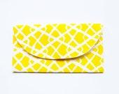 Handmade Yellow Pattern Clutch