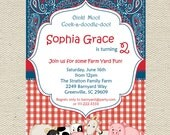 Farm Birthday Invitation Printable