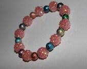 Pink and Silver Graffiti Bracelet