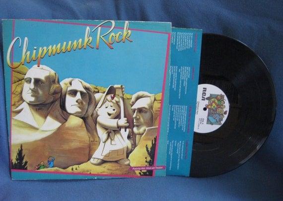 "Vintage, ""Chipmunk Rock"", Vinyl LP, Record Album, Childrens, Alvin And The Chipmunks"