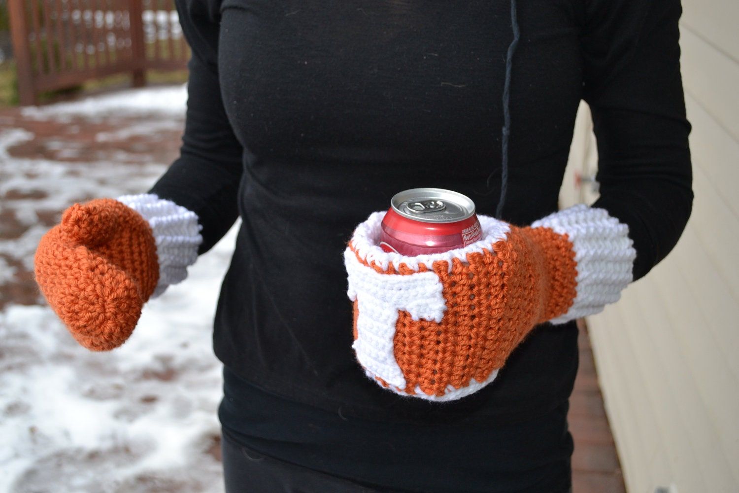 Crochet Koozie : Koozie Mitten Pattern by CraftyCrochetMomma on Etsy