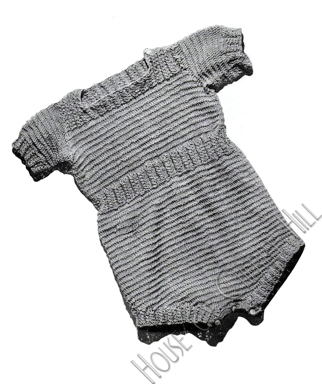 Romper Baby Outfit Knitting Pattern vintage by ...