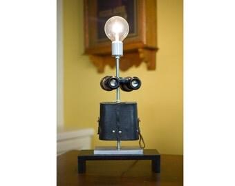 Vintage Binoculars Like Dad Had Table Lamp