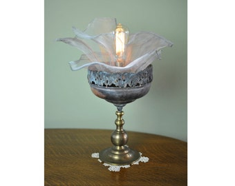 Romantic Salvaged Flora Lamp