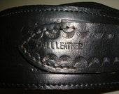 Left Hand Gun Holster Belt Black Leather Handmade Size 44 LIKE NEW never used