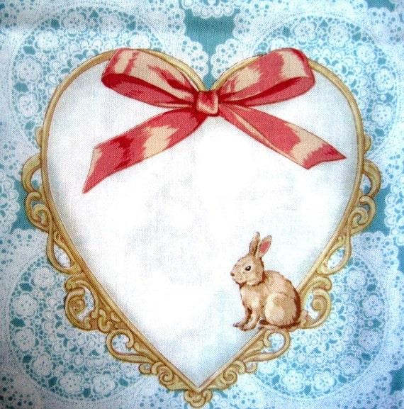 "Cherub Angels Fabric, Fat Quarter,  Multicolor / Blue, 18"" X 22"" inches, 100% Cotton, For Victorian & Romantic Projects"
