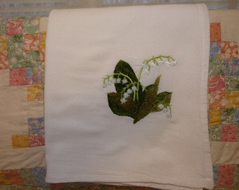 Lily of the Valley Flour Sack Dish Towel