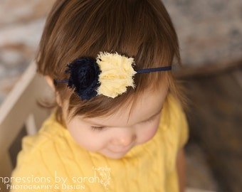 baby girl headbands..newborn headband..navy blue headband
