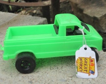 Stombrecker  Green Truck with Hitch.