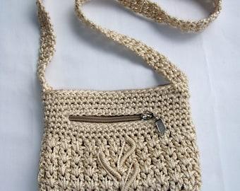 Light Brown Crochet Purse