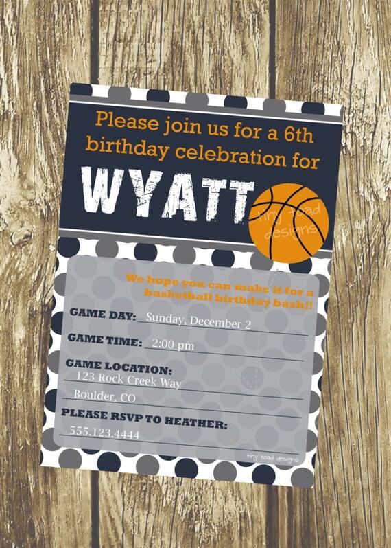 Basketball Party Invitation Game Day, DIY Printable, digital file (item 1086)