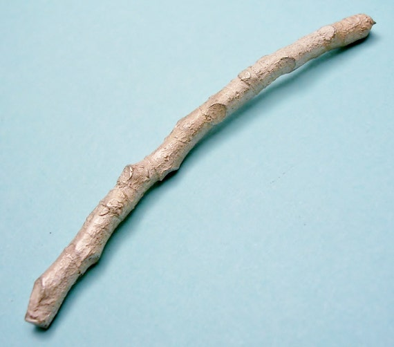 cast silver twig branch silversmith supplies UT032-1