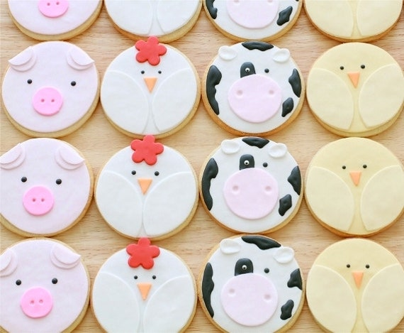Items Similar To Farm Animal Cookies On Etsy