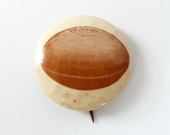 Vintage 19th Century Melon Style Football Pin Button