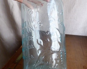 Vintage Antique Buffalo Spring Water with Embossed Lady