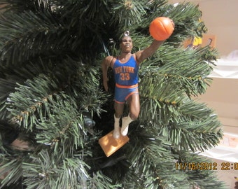 "Patrick Ewing, Allan Houston Walt ""Clyde"" Frazier John Starks Willis Reed New York Knicks basketball Christmas ornaments"