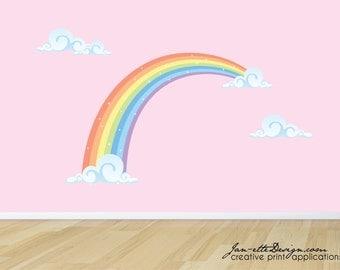 Rainbow Room Fabric Wall Decal Set