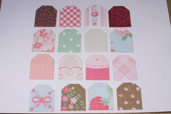 64 Vintage Girl Martha Stewart Small Gift Tags/Jewelry Tags/Price Tags ...
