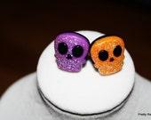 Assorted Stud Earrings Skulls Bats Popcorn Spiders