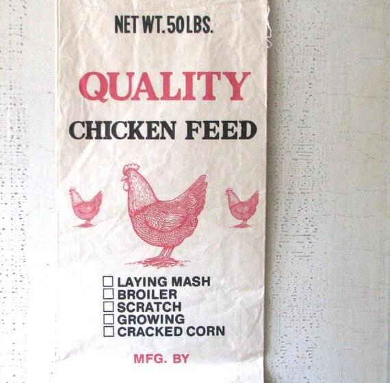 vintage chicken feed sack - farmhouse kitchen decor