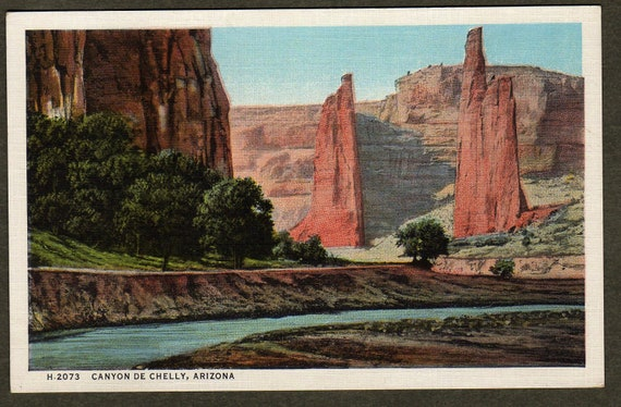 Canyon de Chelly, Arizona - Fred Harvey postcard H2073