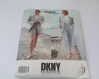 Vintage Vogue Pattern 2849 American DKNY Donna Karan New York Misses Jacket Shorts Pants