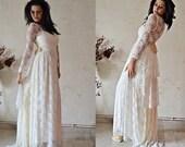 Wedding Dress, Bohemian Gown, Bridal,  Boho Bridal Gown, Unique Wedding Dress, Ivory Wedding Dress, Lace Wedding Dress,  SuzannaM Designs