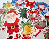 Christmas, Santa, winter stickers