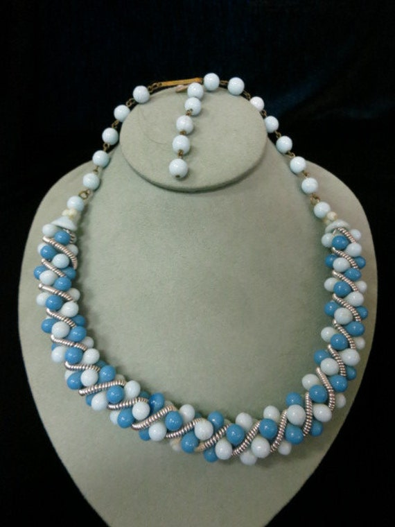 Vintage West Germany Glass Beaded Necklace