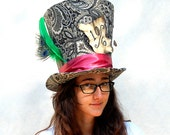 Full Sized Top Hat: Classic Mad Hatter - Cosplay Costume Party Photo Photography Prop Wedding Tophat mad hatter hat