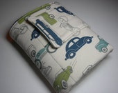 Vintage Cars and Minky Travel Diaper Changing Pad
